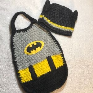 Batman Newborn Knitted Photo Prop